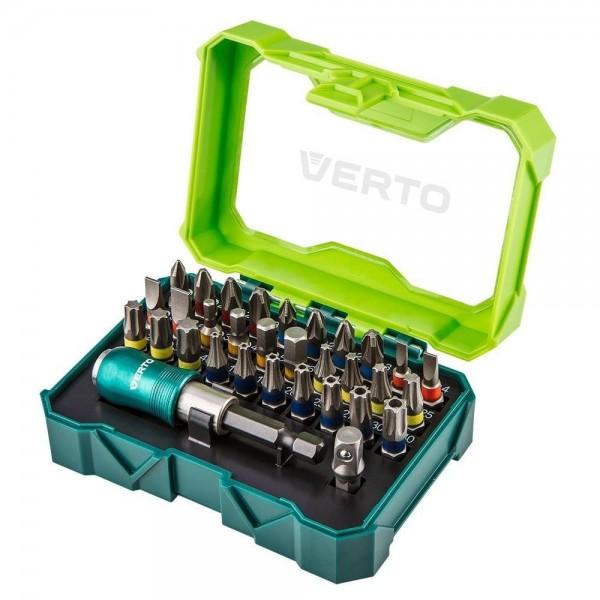 Набор насадок Verto 66H620, 32 шт. + держатель (66H620)