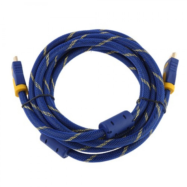 Шнур Comp HDMI - HDMI v1.3, с фильтрами, металлические штекера, gold, 15 м