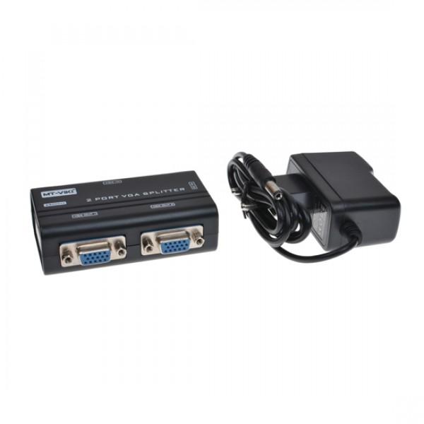Сплиттер VGA 1x2 Mt-Viki MT-3262 (1920x1440 150MHz)