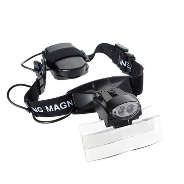 Бинокулярная лупа Magnifier 9892C, увел.- 1X-6Х с Led