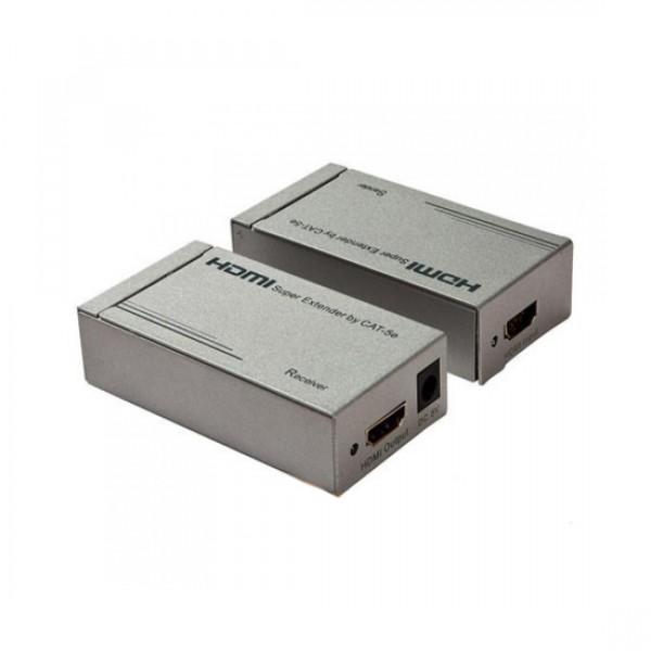 Удлинитель MT-9160 HDMI сигнала по 2 витым парам (+аудио) до 60м