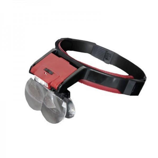 Бинокулярная лупа Magnifier 81001-B, увел.- 1.7X-3.5Х с Led