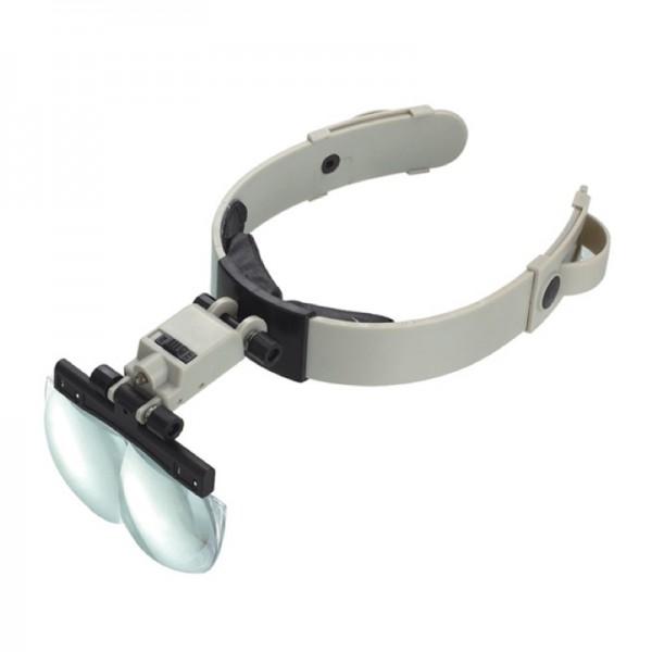 Бинокулярная лупа Magnifier 81002, увел.- 1.2X-3.5Х с Led