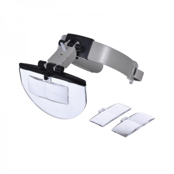 Бинокулярная лупа Magnifier 81003, увел.- 2X-5.5Х с Led