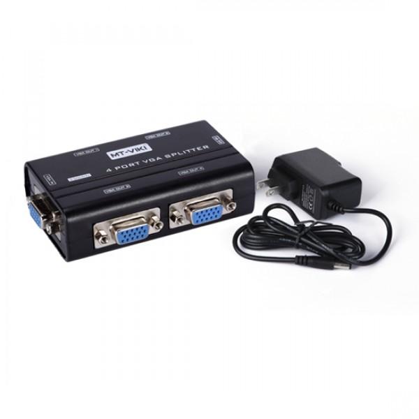 Сплиттер VGA 1x4 Mt-Viki MT-3264 (1920x1440 150MHz)