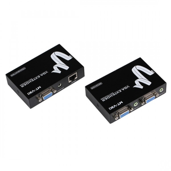 Удлинитель MT-93100 VGA сигнала по витой паре (+аудио) до 100м