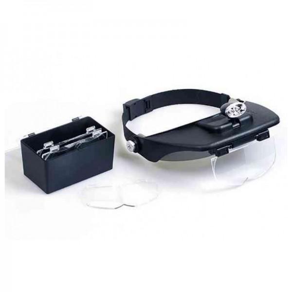 Бинокулярная лупа Magnifier 81001-A, увел.- 1.2X-6Х с Led