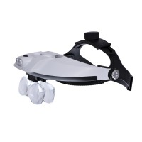 Бинокулярная лупа Magnifier 81001-H, увел.- 1.2X-6Х с Led