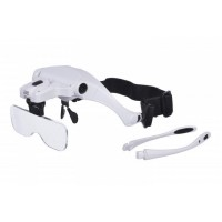 Лупа-очки бинокулярные Magnifier 9892B2, увел.- 1X-3.5Х с Led