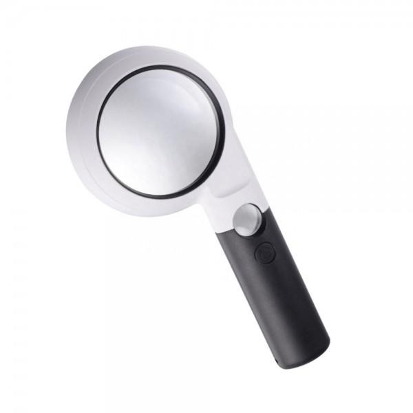 Ручная лупа Magnifier CH75-10L увел.- 5Х, диам.-75мм c Led